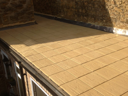 Single ply tile roof